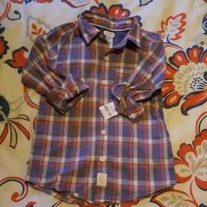 Boys size 4/5 button down dress shirt NWT
